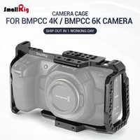 SmallRig Cage for Blackmagic Design Pocket Cinema Camera 4K BMPCC 4K / BMPCC 6K With NATO Rail Thread Holes for DIY Options 2203