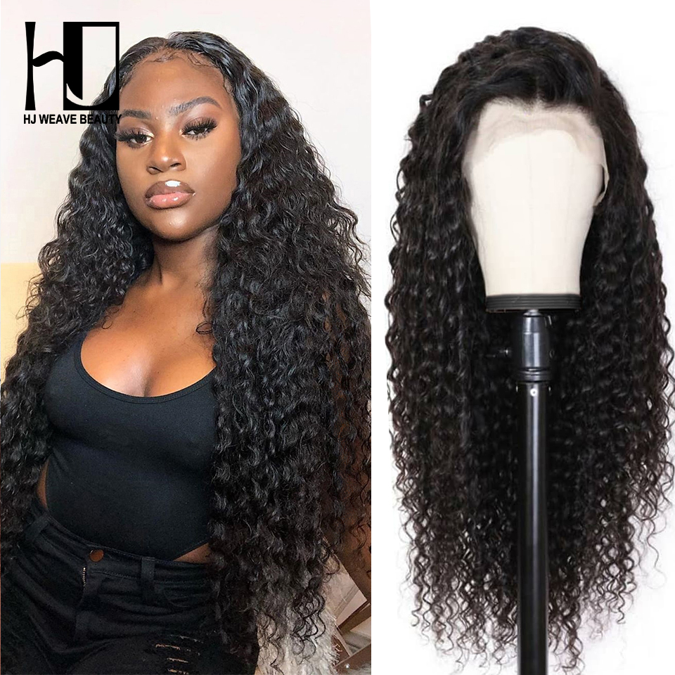 Curly Human Hair Wig PrePlucked With Baby Hair Brazilian Remy Hair 13x6 Lace Front Human Hair Wigs For Black Women Deep Wave Wig