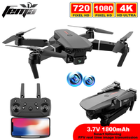 FEMA E88 Pro Mini Drone con fotocamera 4k HD grandangolo 1080P WiFi Fpv Drone altezza Hold Rc Quadcopter Dron Toy Pk E525 E58