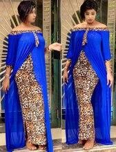 Robes africaines pour femmes, vêtements de grande taille, Sexy, imprimé léopard, Dashiki, fête, demi manches, col Slash, automne