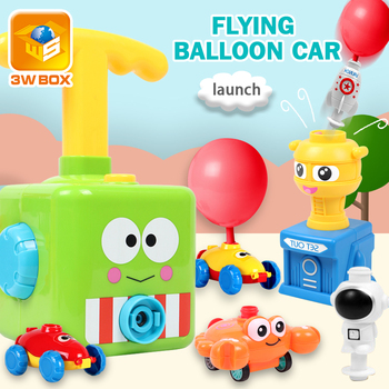 powered balloon car  for children Gift Puzzle Interactive Racing Car toys Education Science Experiment Fun Inertial Toy Kids flashlight lab toy education series physics generator children experiment circuit teaching science projects for kids stem toys