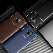 Carbon Fiber Cover For Xiaomi Redmi Note 9S 9 Case Soft Protective Bumper For Xiaomi Redmi Note 9S 9 Pro Max Phone Case недорого