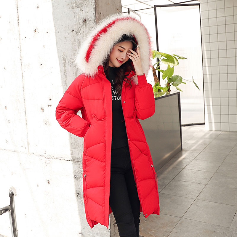 Chic Long Fur Coat Women Hooded Bakery Oversize Winter Down Coat Heavy Jacket Thick Warm Cotton Padded Wadded Parkas Big Pocket