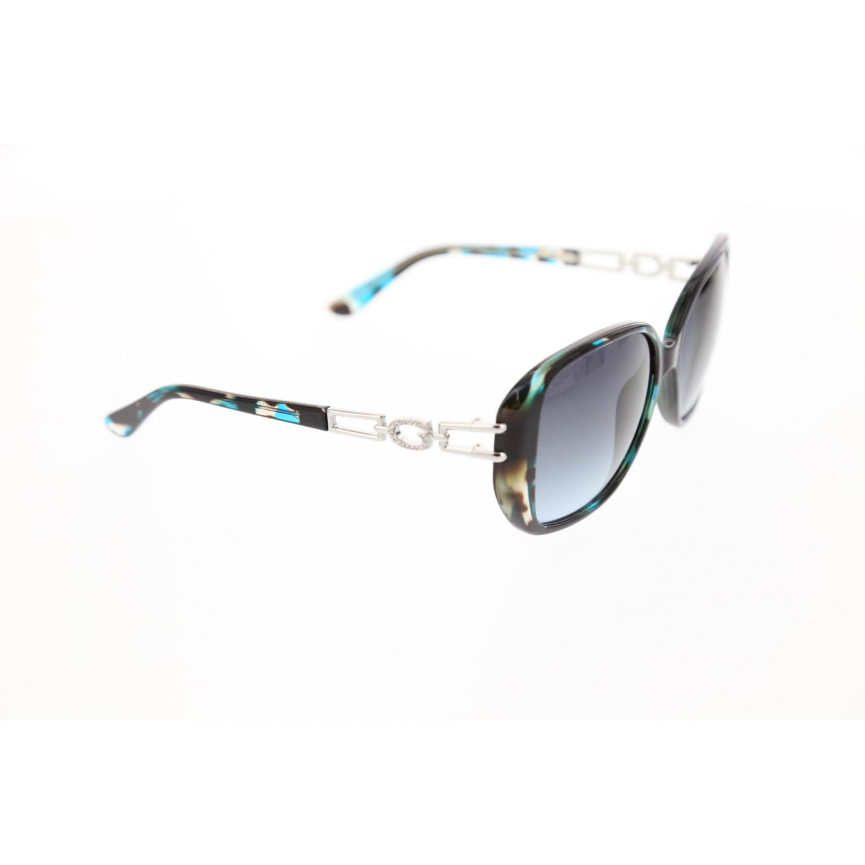 Women's sunglasses gu 7563 87w bone color organic rectangle rectangular 59-16-140 guess