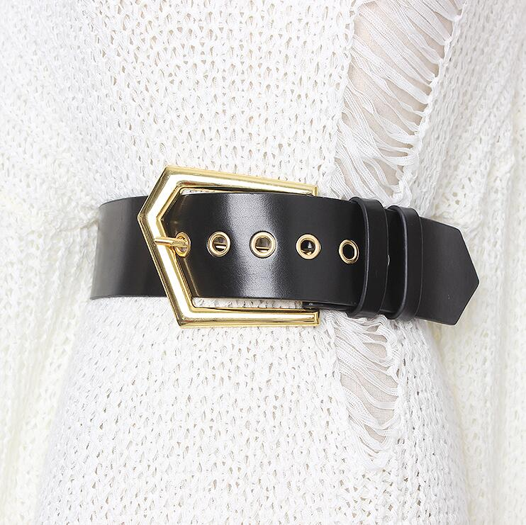 Women's Runway Fashion Genuine Leather Cummerbunds Female Vintage Coat Dress Corsets Waistband Belts Decoration Wide Belt R2172