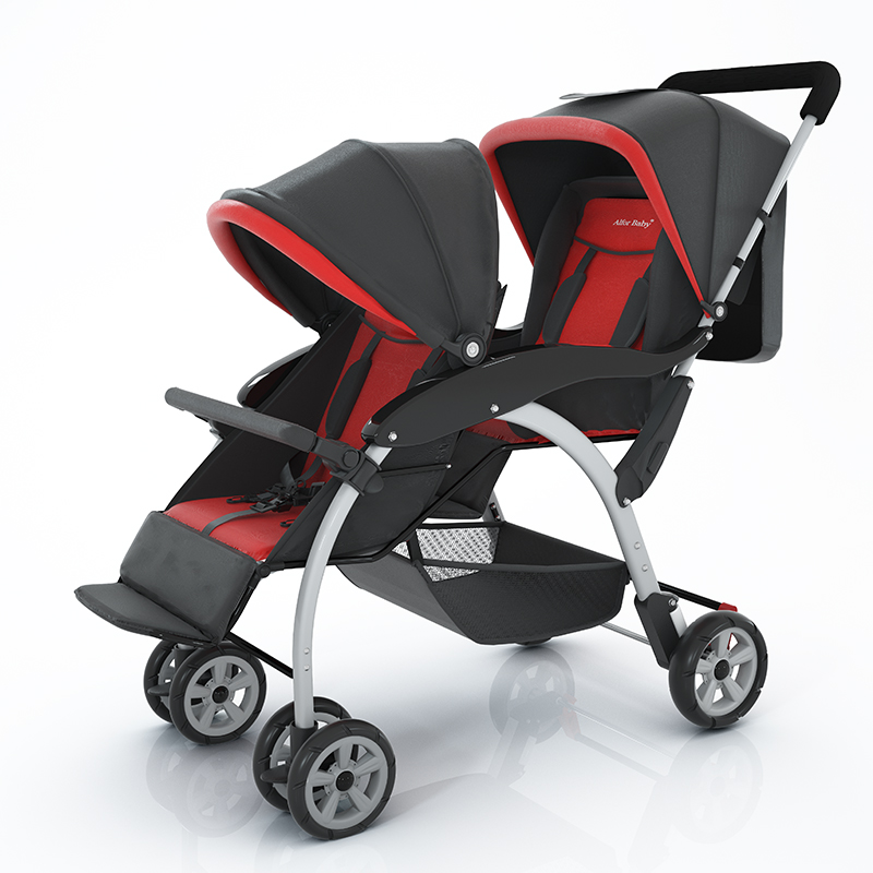 Twin baby second child older baby twin baby child stroller can sit and lie lightly
