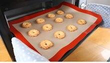 Forro de folha de bakeware do produto comestível da esteira do cozimento do silicone da antiaderente do forno 40x30cm