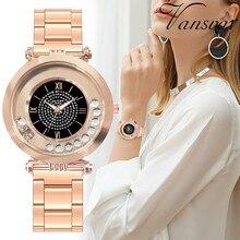 Fashion Dress Women Watches Roman Numerals Quicksand Quartz Watch Stainless Steel Ladies Wristwatch Relogio Masculino Clock #W