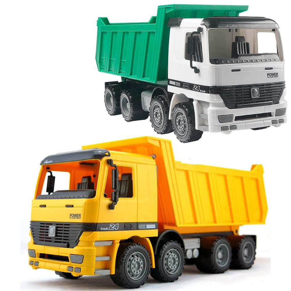 Simulation Beach Transport Toy Car Big Dump Truck Friction Power Construction Car Model Toy Kids Gift Birthday Gift Kids Toy
