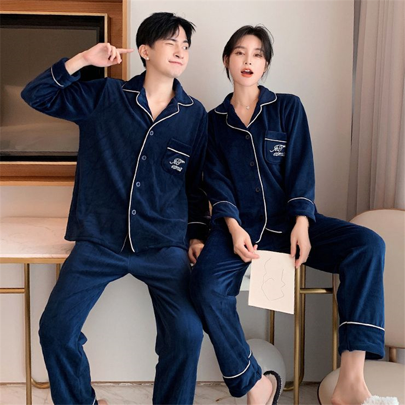 <font><b>camison</b></font> <font><b>sexy</b></font> <font><b>mujer</b></font> men's pajamas couple suit warm and comfortable home service long sleeve trousers casual pajamas начнушка image