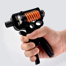 Apertos de mão contáveis ajustáveis força exercício fortalecedor prendedor primavera dedo pitada expansor carpal preto
