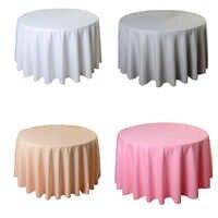 Runde Tischdecke Hochzeit Weiß Hotel Tisch Tuch Tischdecke Overlay tapetes nappe mariage Tischdecke Polyester
