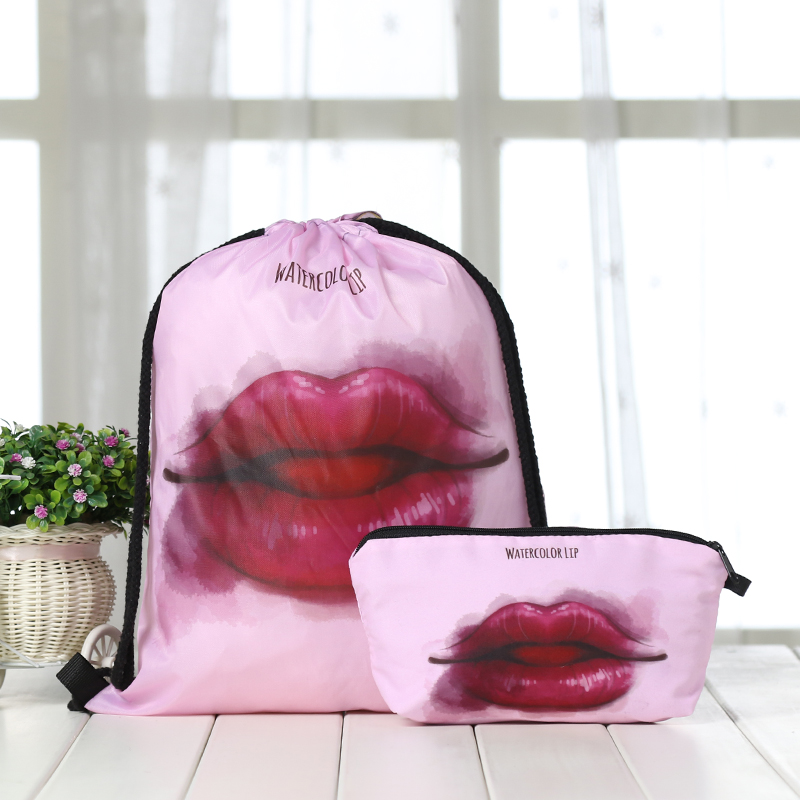 Drawstring Suit Backpack Drawstring Bags Fashion Halloween Printing  Men Casual Bags Unisex Women's Shoulder 3D Clutch Bag New