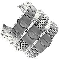 Edelstahl Uhr Band Für Seiko SKX009 Serie Tauchen Drei-perle Fünf-perle Armband Armband Zubehör Refit 20mm 22mm