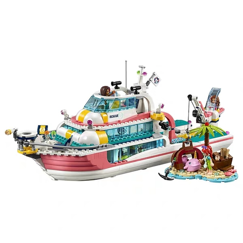 Friends Set Girl Series 999pcs Building Blocks Toys Dolphin Cruiser Rescue Center Kids Bricks Girl Gift Compatible 41381 41380