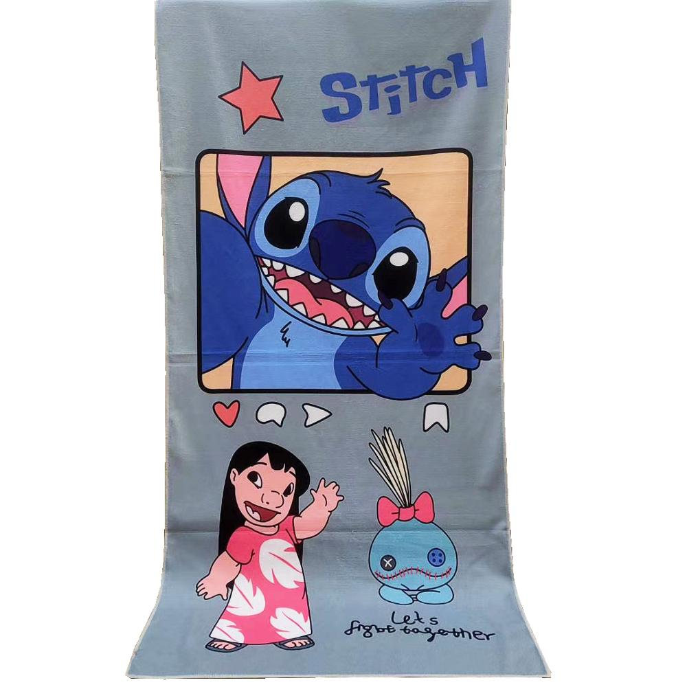 Disney Cute Lilo Stitch Winnie Bear Baby Boys Girls Bath/ Beach Towel Soft Absorbent Swimming Towel Washcloth 70x140cm