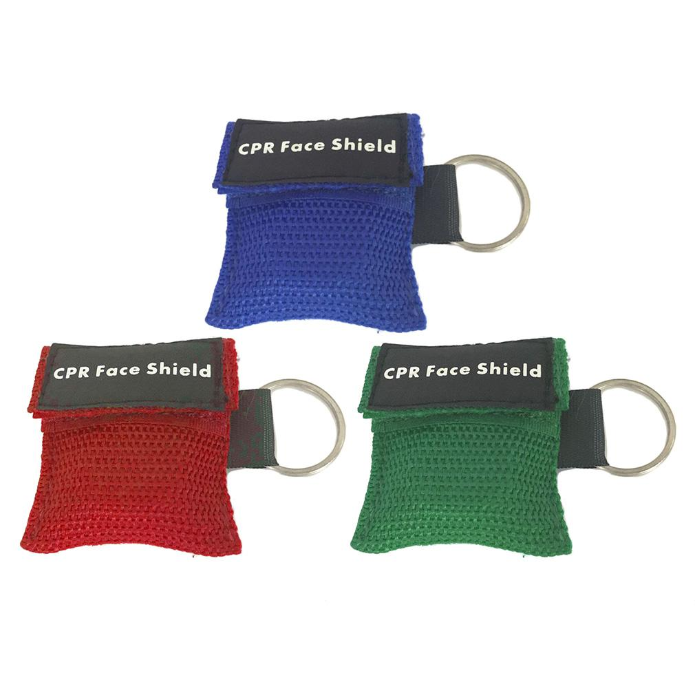 First Aid Mini CPR Keychain Mask / Face Shield Barrier Kit Health Care KU