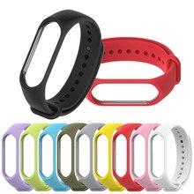 купить Bracelet for Xiaomi Mi Band 4 3 Sport Strap watch Silicone wrist strap For xiaomi mi band 3 4 accessories Miband 3 4 Strap дешево