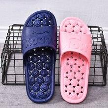 Bathroom Slippers Flip-Flops Foot-Massage Shoes Men Couple Fashion Summer Women Home