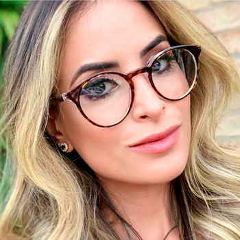 Feishini Computer Glasses Men Rays Radiation Gamin Eyewear Plastic Unisex Glasses Frame for Women Oval Frame image