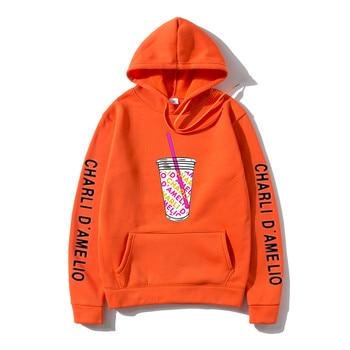 Harajuku Ice Coffee Splatter Hoodies Sweatshirts Men japanese streetwear hoodie Charli DAmelio Pullover Unisex Costume Tracksuit 12