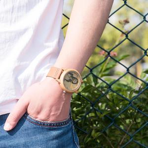 Image 5 - 보보 버드 커플 시계 초고 정밀 레이저 사진 우드 시계 정품 가죽 스트랩 그에게 독특한 크리스마스 선물을 사용자 정의