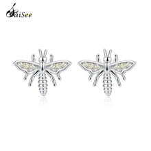 SaiSee 925 Sterling Silver Cute Animal Bee Stud Earrings for Women Fashion Jewelry Party Gift Girl