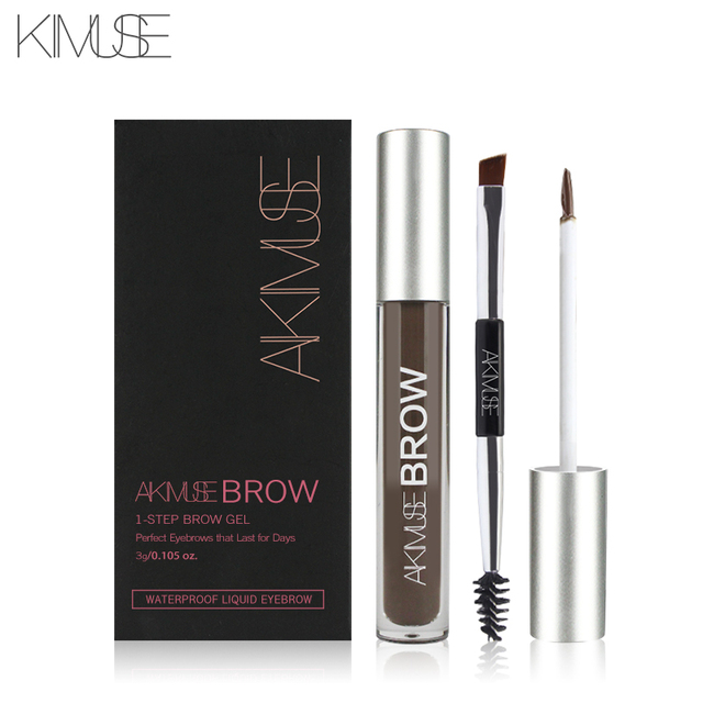 KIMUSE Eye Eyebrow Gel Makeup Tattoo Eyebrows in 2 Mins Black Brown Tint Waterproof Eyebrow Makeup Gel Eyebrow Pencil 3