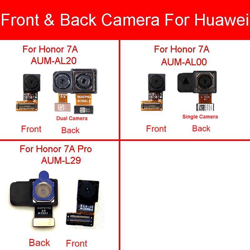 Front & Back Rear Camera Module For Huawei Honor 7A AUM-AL20 AUM-AL00 / Honor 7A Pro AUM-L29 Small Big Main Camera Flex Cable