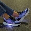 Обувь с подсветкой  оптоволоконная обувь для девочек и мальчиков  мужская и женская обувь с usb-зарядкой  светящиеся кроссовки для бега для вз...