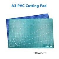 Tabla de corte de doble cara A3 PP, herramienta de costura de retales, herramienta Artesanal de cuero, placa Base autoreparadora