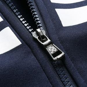 Image 5 - Brand Men Sets Autumn Winter Thick Fleece Sporting Suit 6XL Sweatshirt + Sweatpants Mens Clothing Sets Tracksuit Large Size 8XL