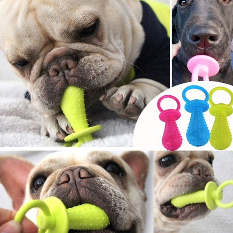 1PCS Pet Toys for Small Dogs Rubber Resistance To Bite Dog Toy Teeth Cleaning Chew Training Toys Pet Supplies Puppy Dogs Cats 2