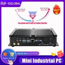 Fanless Mini PC i7 8565U i5 8265U i3 7020U Industrial Computer 24 Hours Working 2 COM HDMI VGA Dual Display 300M Wifi 4K HD HTPC