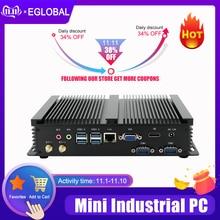 Mini PC sin ventilador i7 8565U i5 8265U i3 7020U ordenador Industrial 24 horas de trabajo 2 COM HDMI VGA pantalla Dual 300M Wifi 4K HD HTPC