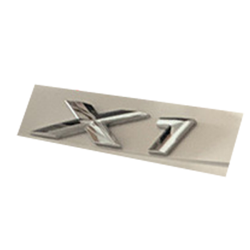 Letter Number Emblem for BMW X1 Trunk Model Name Badge Car Styling Refitting Sticker Chrome Silver image