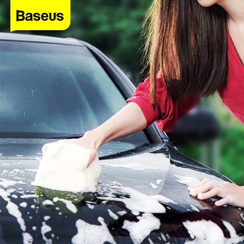 Baseus Car Wash Soap Shampoo Polishing Car Waxing Washing liquid Auto Care Sponge Wax  Detergent Concentrate Foam Cleaning Ball