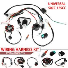 Complete Electrics Wiring Harness Loom CDI Coil high quality accessory part suitable For ATV 50cc 70cc 90cc 110cc 125cc for 50cc 110cc 125cc pit quad dirt bike atv motorcycle cdi wiring harness loom solenoid ignition coil rectifier
