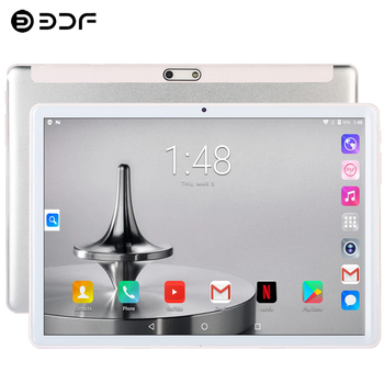 Tablets New 10.1 inch Tablet Android 9.0 Octa Core 3G/4G Phone Call 6GB/64GB ROM Bluetooth 4.0 Wi-FI 2.5D Steel Screen Tablet PC bobarry s106 10 1 tablets android8 0 octa core ram 6gb rom 128gb dual camera 8mp dual sim tablet pc wifi gps bluetooth phone