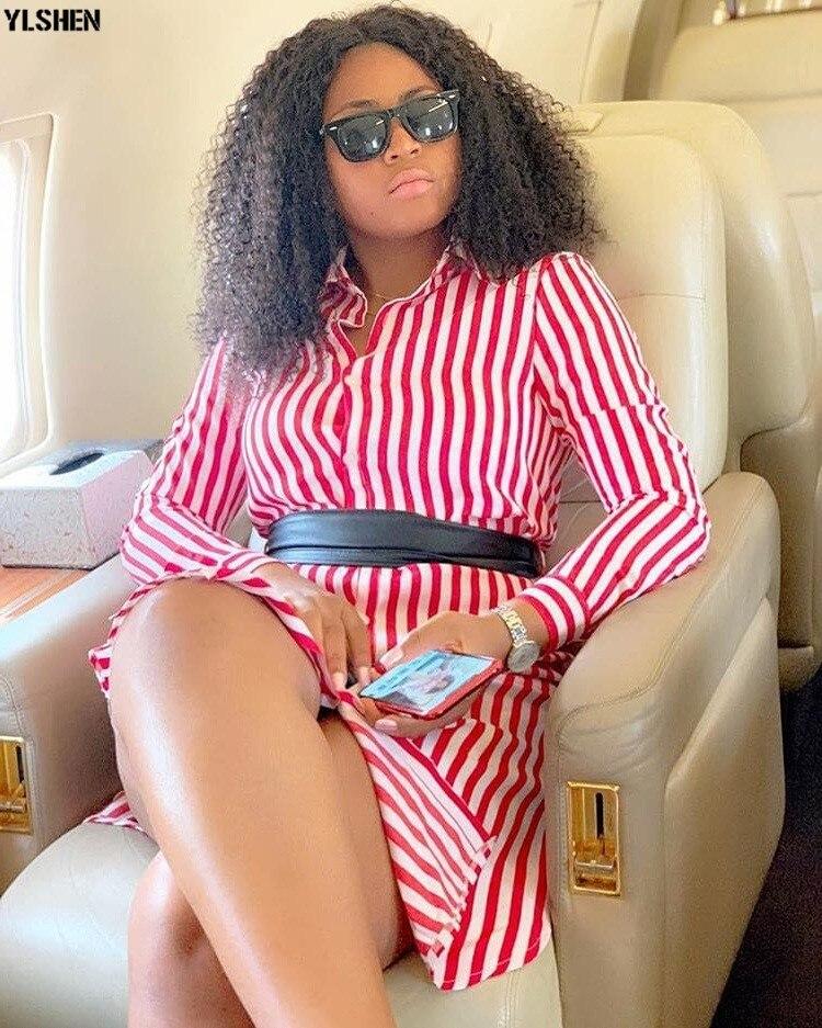 New African Dresses for Women Vetement Femme 2019 Super Elastic Africa Shirt Dress African Clothes Dashiki Ankara Dresses Ladies 02