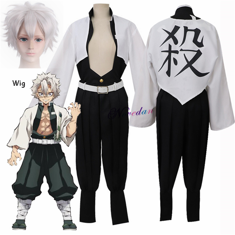 Anime Demon Slayer Cosplay Costume Kimetsu No Yaiba Sanemi Shinazugawa Cosplay Kisatsutai Team Uniform Clothes Set And Wig Anime Costumes Aliexpress That's enough, shinazugawa. himejima suddenly appeared from behind him. anime demon slayer cosplay costume kimetsu no yaiba sanemi shinazugawa cosplay kisatsutai team uniform clothes set and wig