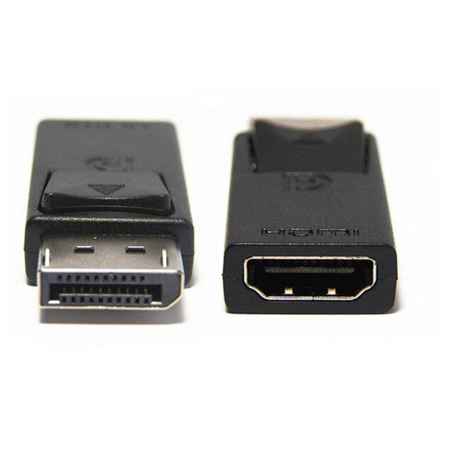 Cổng Hiển Thị DP Male To HDMI Adapter Đen Chất Lượng Cao Dp Sang HDMI Cho HDTV PC