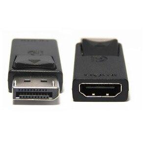 Image 1 - عرض ميناء DP ذكر إلى HDMI شاحن أنثي أسود عالية الجودة Dp لتحويل Hdmi للكمبيوتر HDTV