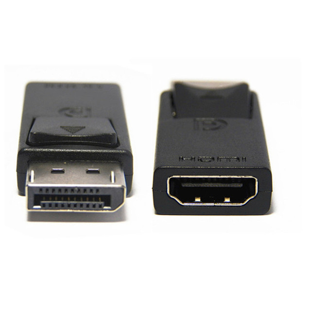عرض ميناء DP ذكر إلى HDMI شاحن أنثي أسود عالية الجودة Dp لتحويل Hdmi للكمبيوتر HDTV