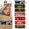 2020 New Christmas Carpet Santa Claus 3D Flannel Anti-slip Kitchen Bathroom Room Door Floor Mat Decor Rug 7 Designs#50