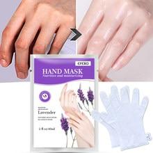 Masque hydratant pour les mains à l'acide hyaluronique et à la lavande, Patch pour les mains, élimine les peaux mortes, Anti-séchage, exfoliant, gants de soins pour la peau, TSLM1