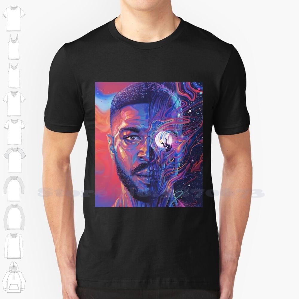 "Hip Hop Rap ""Man On Moon"" T-shirt  1"