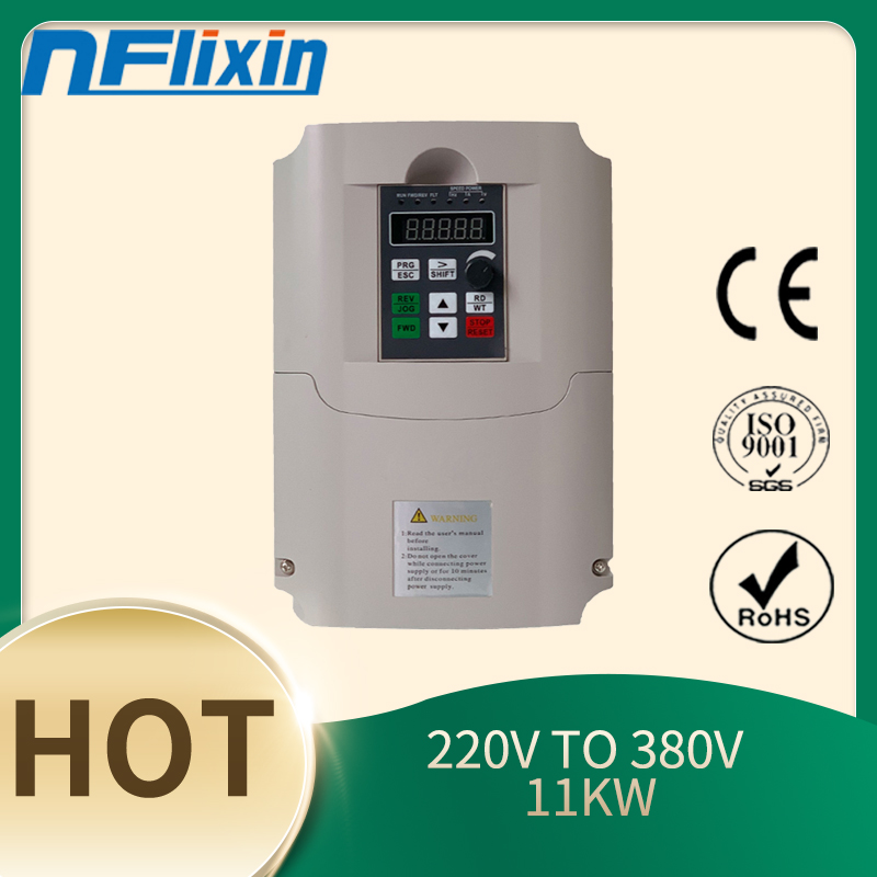 Frequency <font><b>inverter</b></font> of <font><b>220</b></font> single phase VFD to 3 phase 380V 11KW Variable Frequency Drive Converter for Motor Speed Control image