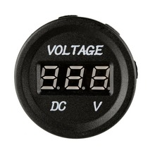 Battery Voltmeter DC LED Digital Display Car Motorcycle Voltmeter Tester Mini DC Voltage Gauge Electrical Meter стоимость