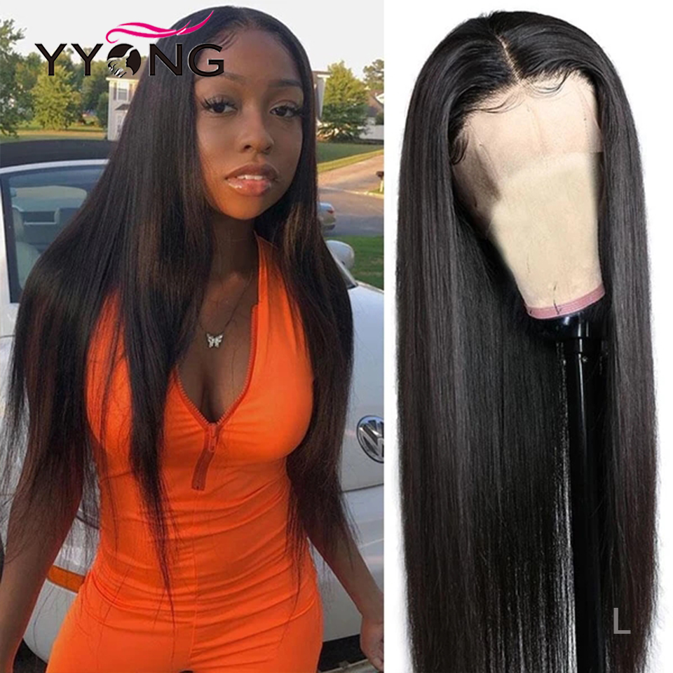 13x4 Straight Lace Front Human Hair Wigs Pre Plucked With Baby Hairs 12-26inch Low Ratio Brazilian Remy Human Hair Lace Wig 120%